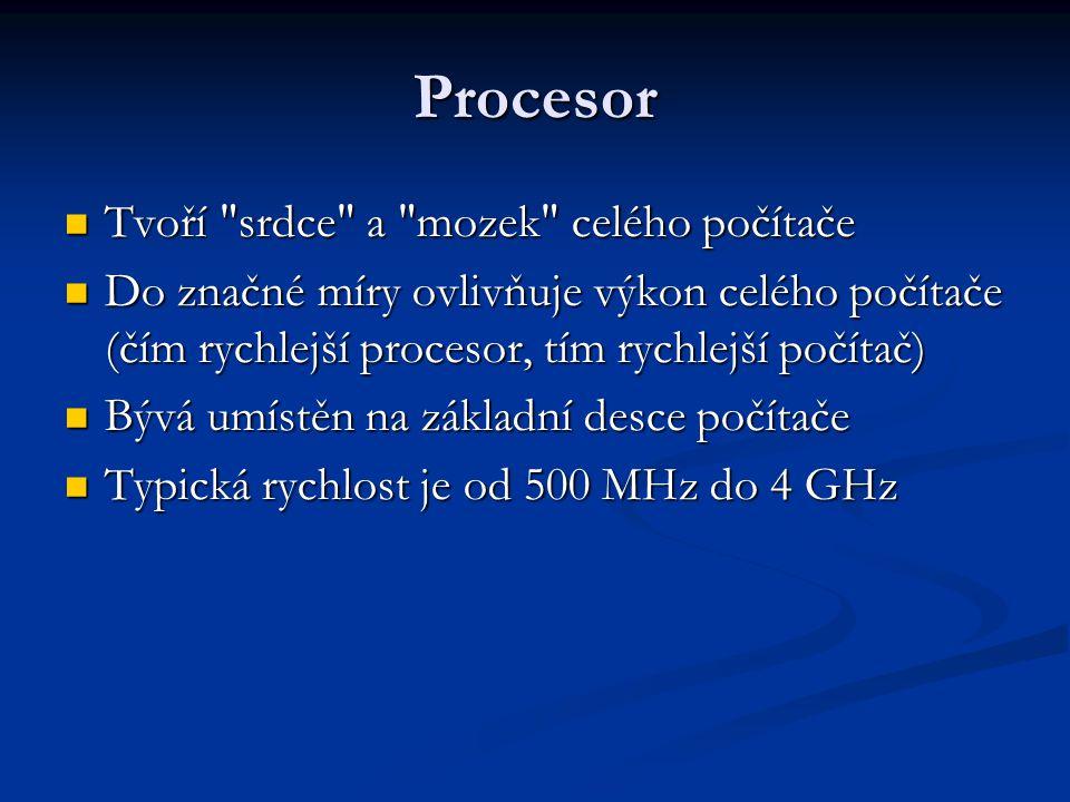 Procesor Tvoří