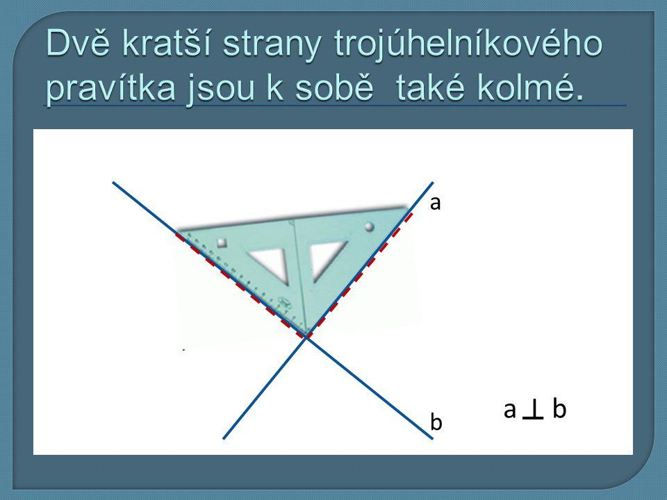 1. Narýsujeme přímku p (podle nejdelší strany trojúhelníku). p