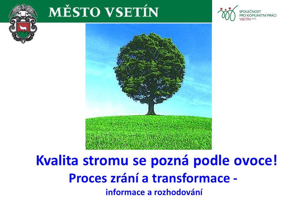 Kvalita stromu se pozná podle ovoce! Proces zrání a transformace - informace a rozhodování