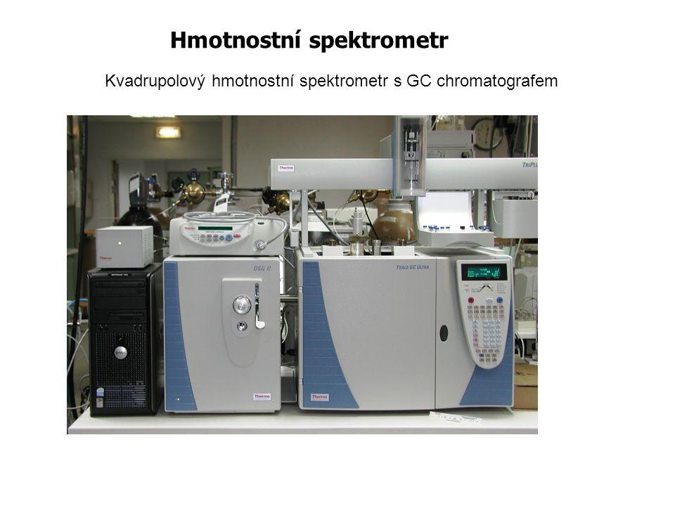 Hmotnostní spektrometr Kvadrupolový hmotnostní spektrometr s GC chromatografem