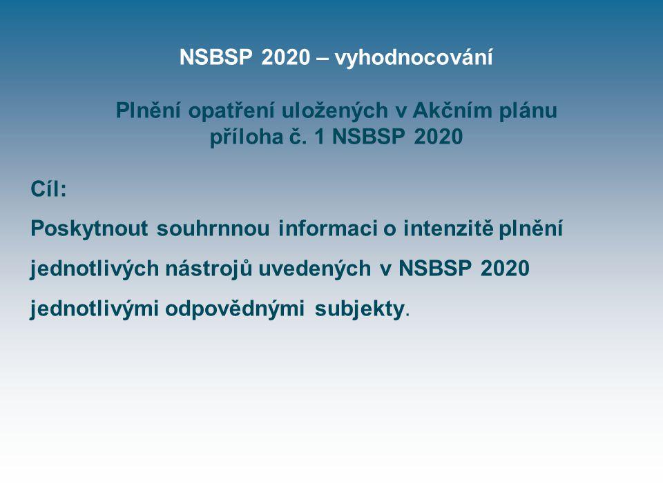 NSBSP 2020 – vyhodnocování Plnění opatření uložených v Akčním plánu příloha č.