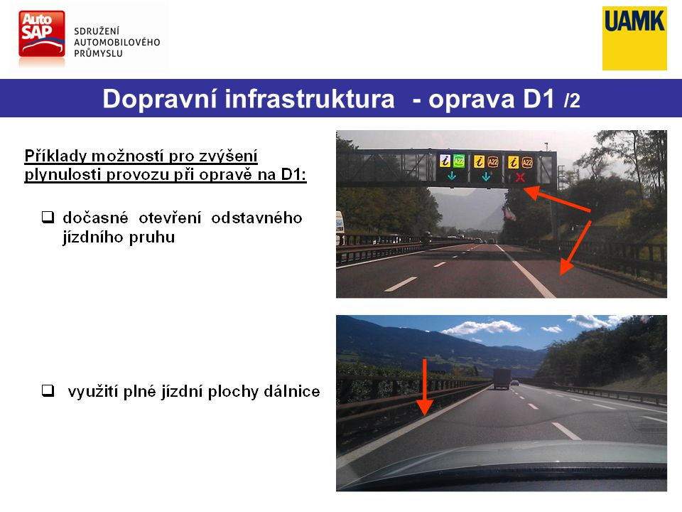 Dopravní infrastruktura - oprava D1 /2