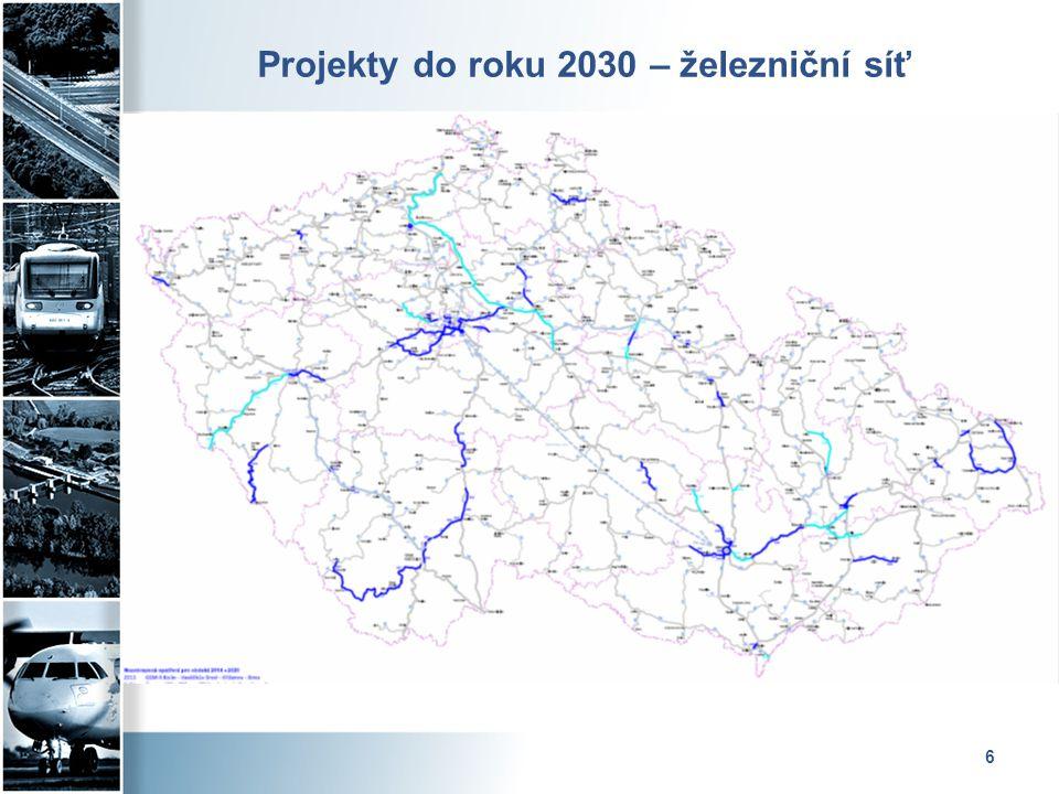6 Projekty do roku 2030 – železniční síť