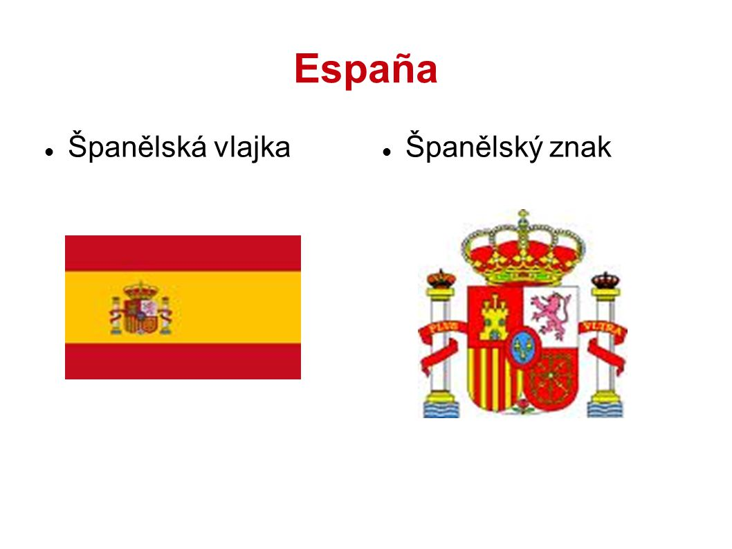 España Španělská vlajka Španělský znak