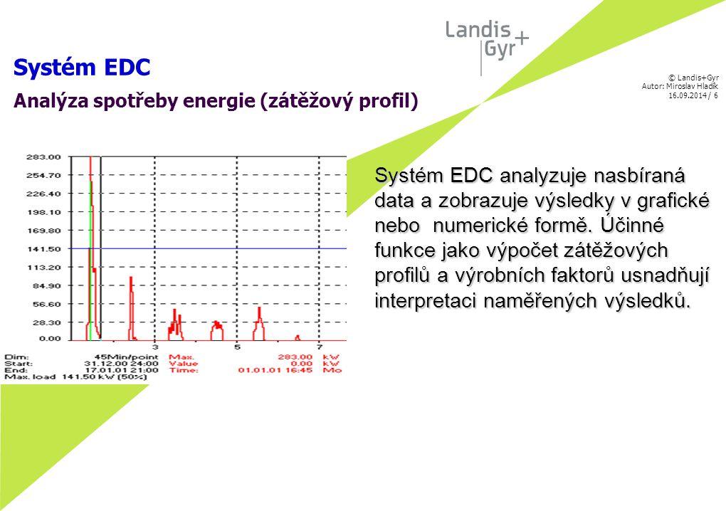 © Landis+Gyr Autor: Miroslav Hladík 16.09.2014 / 7 Systém EDC Bilanční Centrála