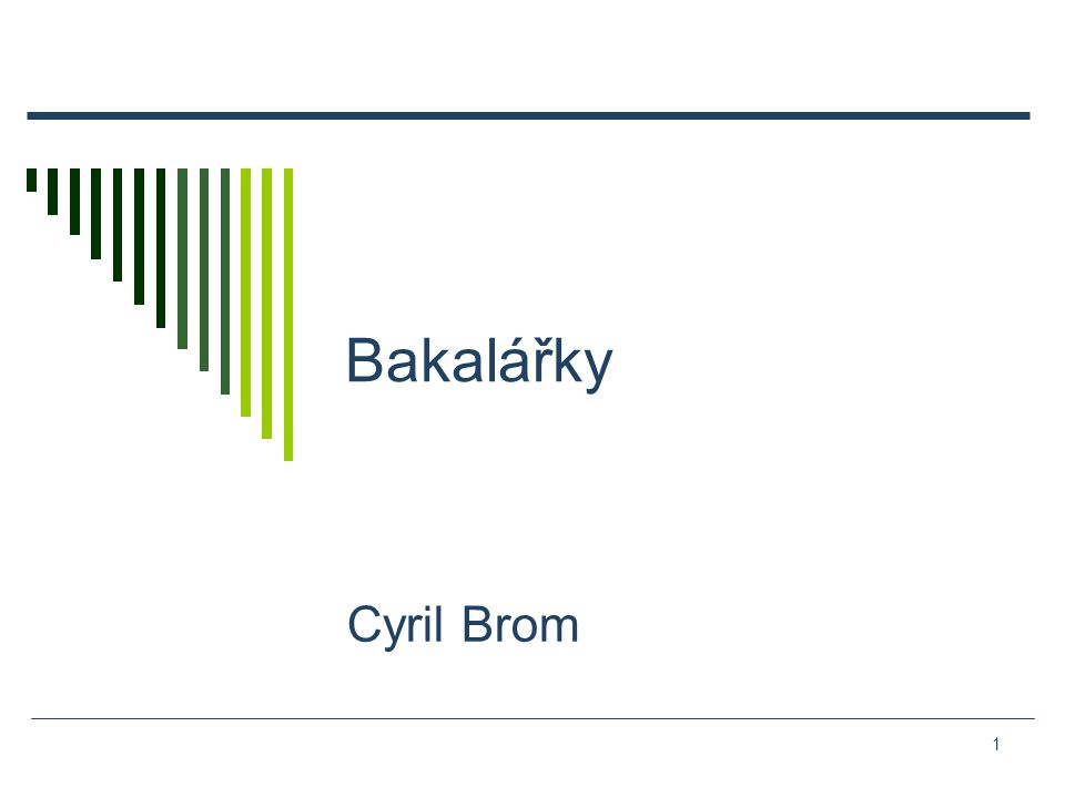 1 Bakalářky Cyril Brom