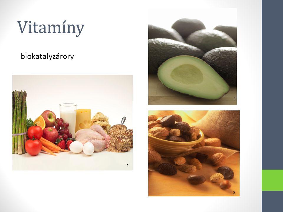 Vitamíny biokatalyzárory 1 2 3