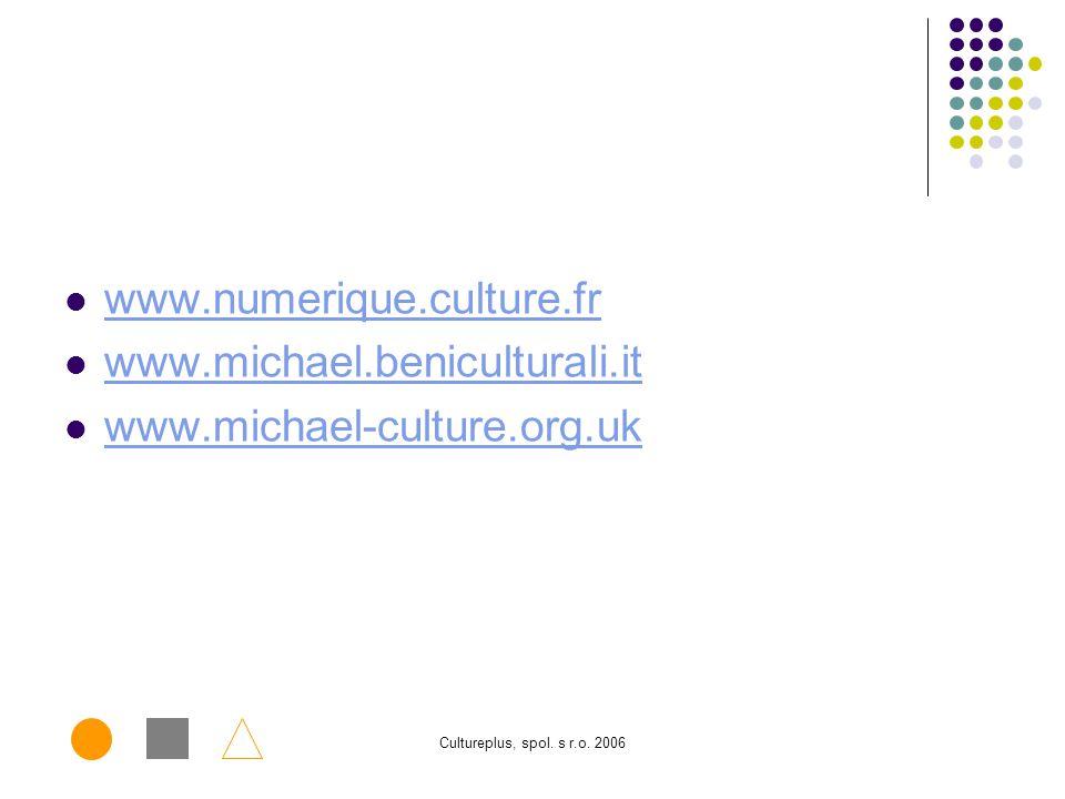 Cultureplus, spol. s r.o. 2006 Implementační schéma Základní implementační schéma v podmínkách prostředí Ministerstva kultury ČR Firewall MKCR Interne