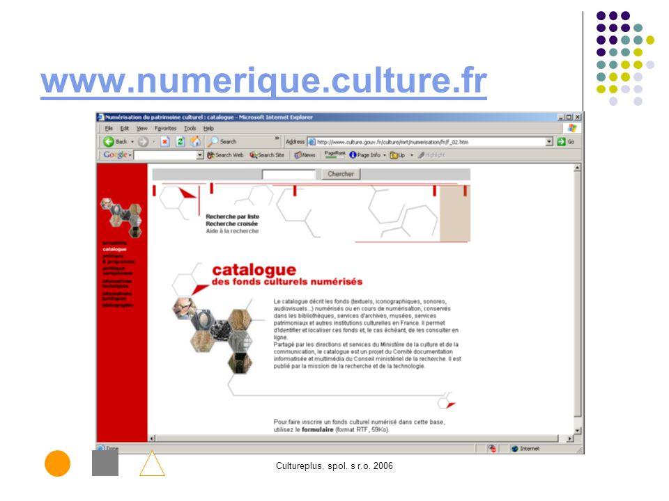 Cultureplus, spol. s r.o. 2006 www.numerique.culture.fr www.michael.beniculturali.it www.michael-culture.org.uk