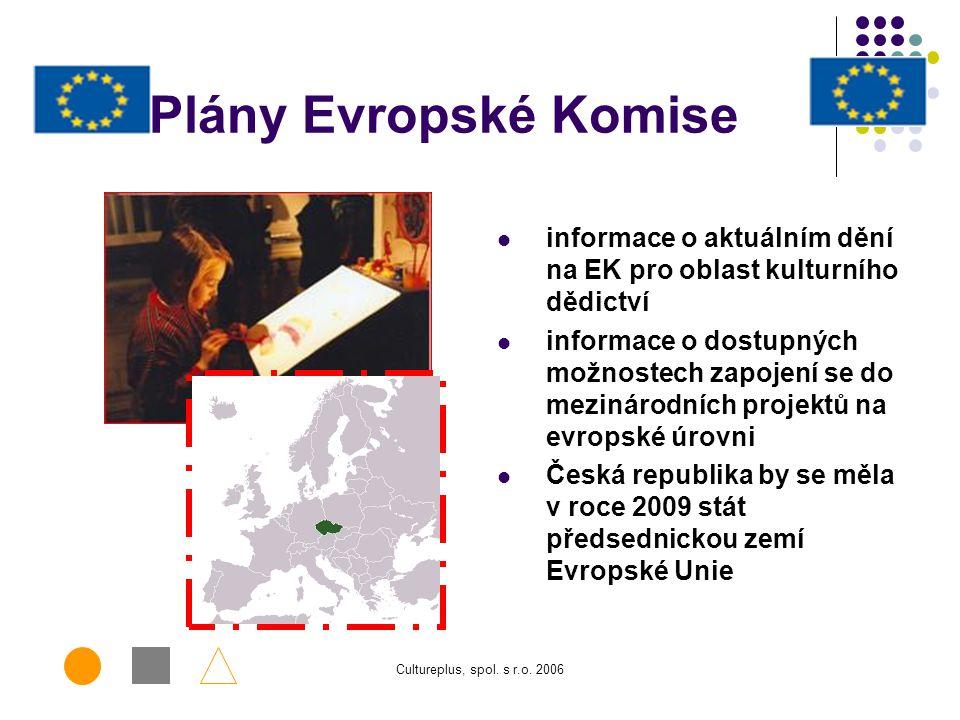 Cultureplus, spol. s r.o. 2006 Paměťové instituce: Knihovny, muzea, galerie, archivy, památkové ústavy,...