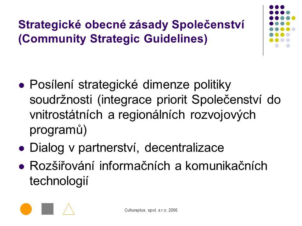 Cultureplus, spol. s r.o. 2006 Obnovená lisabonská strategie  Obnovený počátek lisabonské strategie –  zajistit vyšší a trvalý růst a větší počet le