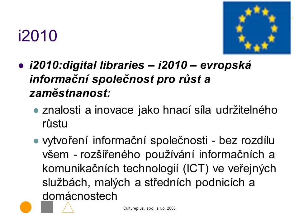Cultureplus, spol.s r.o. 2006 Projekt je rozdělen do tzv.