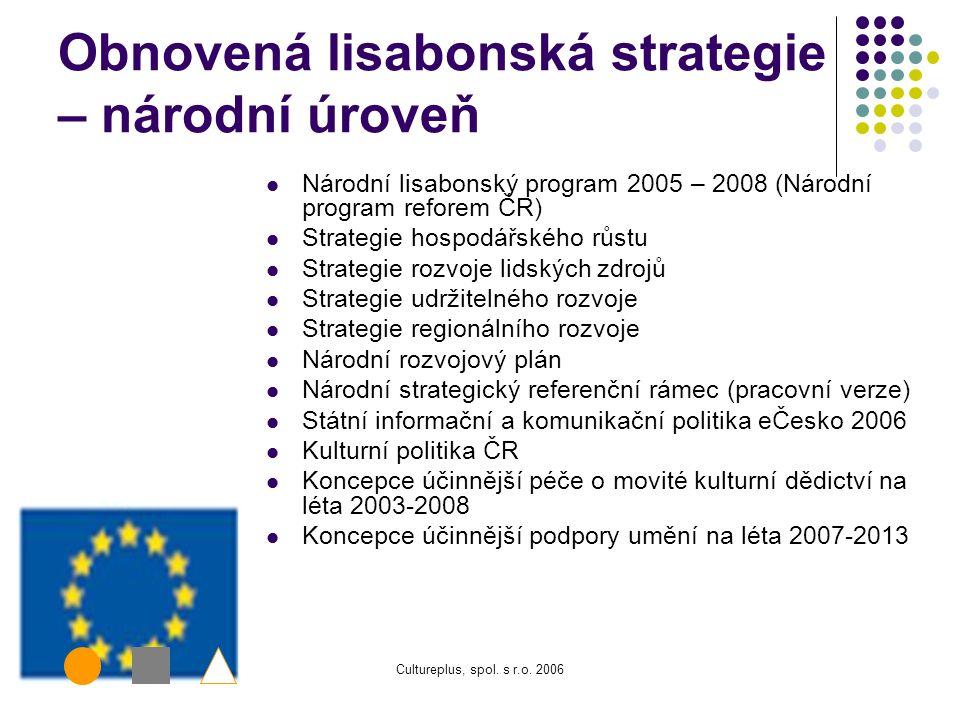 Cultureplus, spol. s r.o. 2006 i2010 i2010:digital libraries – i2010 – evropská informační společnost pro růst a zaměstnanost: znalosti a inovace jako