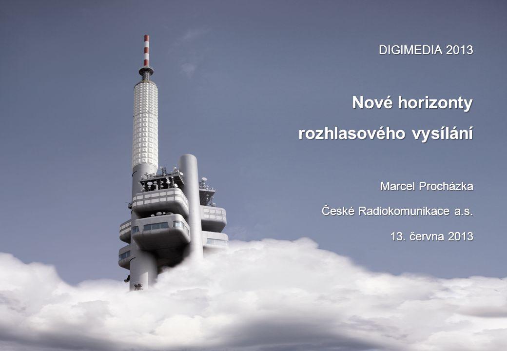 DIGIMEDIA 2013 Nové horizonty rozhlasového vysílání Marcel Procházka České Radiokomunikace a.s.