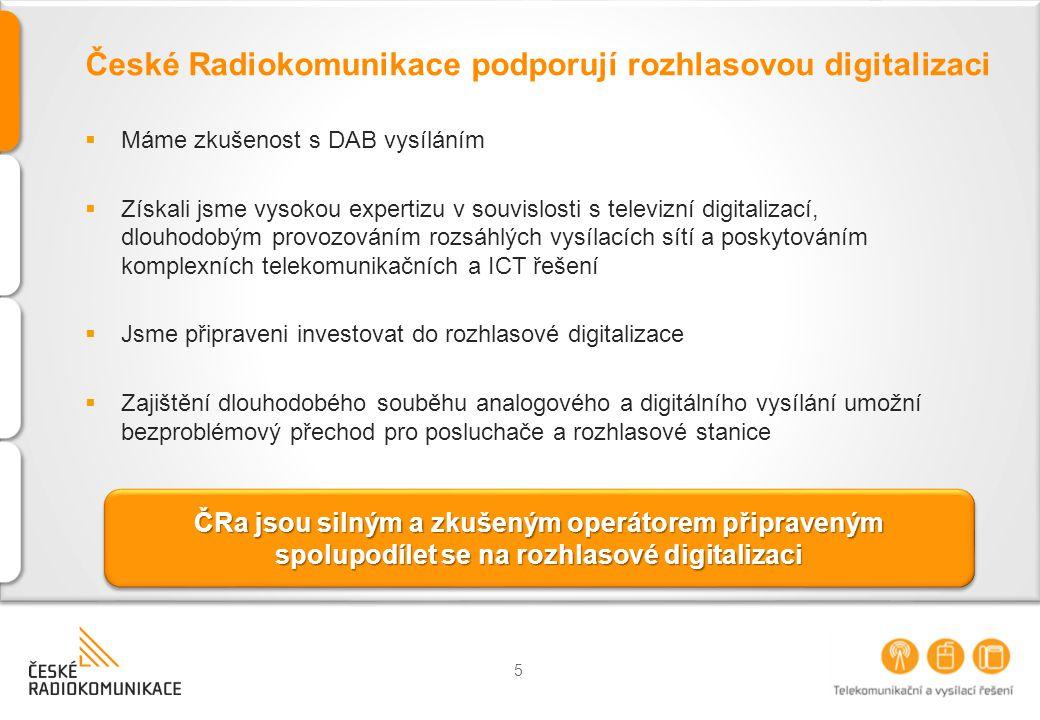 Hlavní kroky pro rozvoj digitálního rozhlasového vysílání  Dokončení národní strategie pro zahájení digitálního vysílání a příprava taktických plánů pro její realizaci  Vytvoření pracovních skupin  Stanovení cílů a časového harmonogramu  Realizace plánů  Nezbytné změny v legislativě  Zajištění dostupnosti frekvenčního spektra (III.