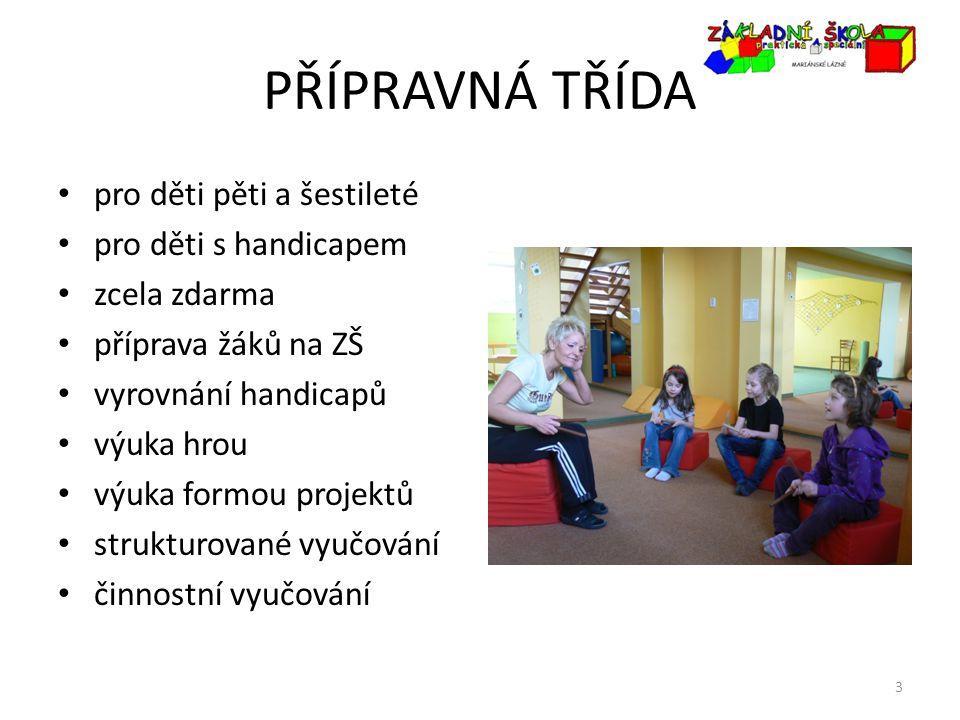 PŘÍPRAVNÁ TŘÍDA pro děti pěti a šestileté pro děti s handicapem zcela zdarma příprava žáků na ZŠ vyrovnání handicapů výuka hrou výuka formou projektů
