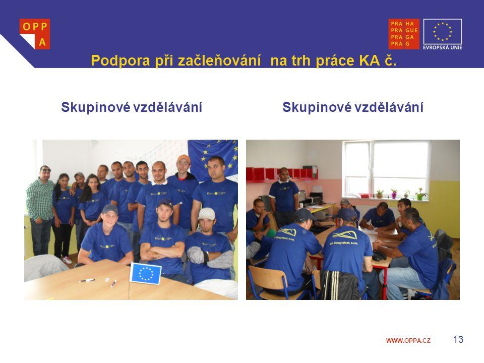 WWW.OPPA.CZ Podpora při začleňování na trh práce KA č. Skupinové vzdělávání 13