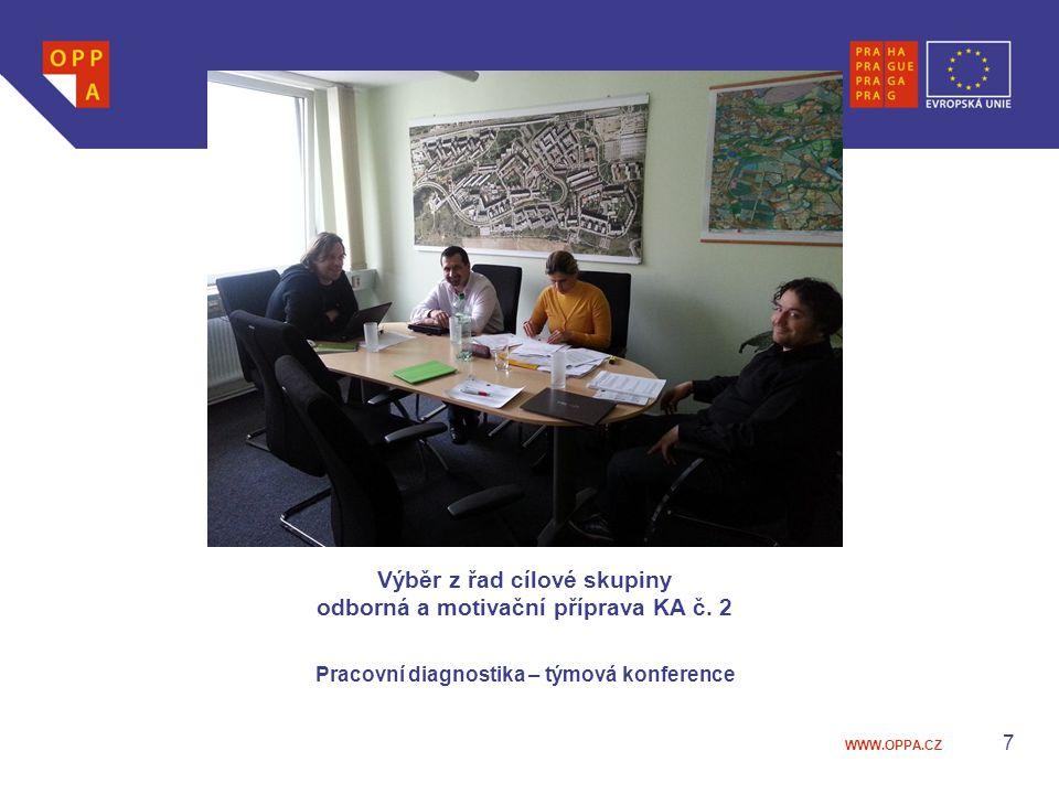WWW.OPPA.CZ Výběr z řad cílové skupiny odborná a motivační příprava KA č. 2 Pracovní diagnostika – týmová konference 7