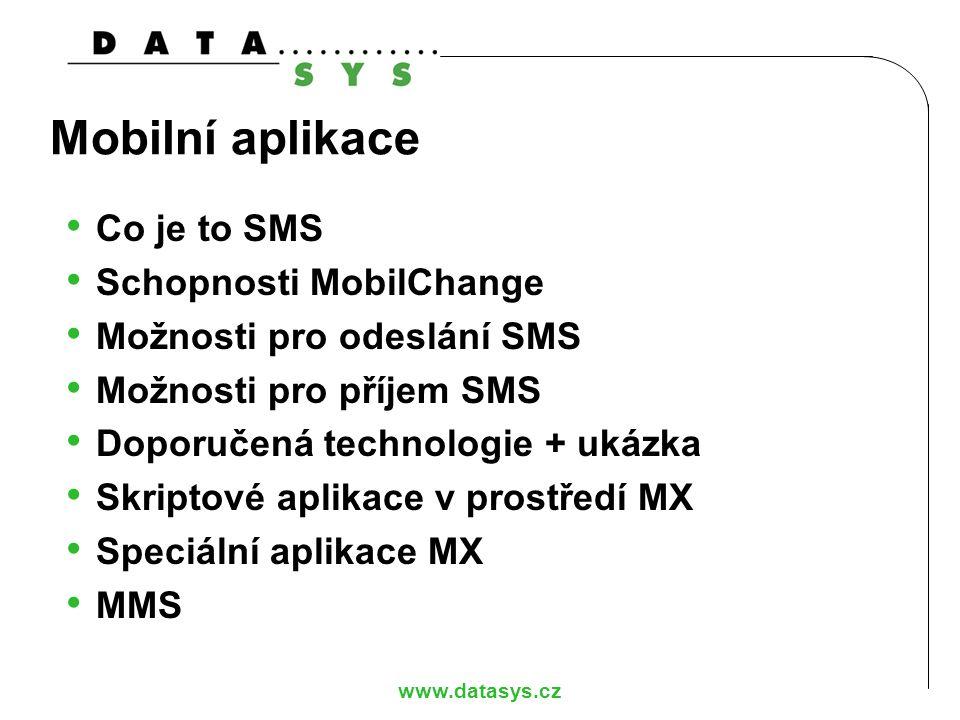 """www.datasys.cz SMS zpráva ISDN paket typu """"User Info 140 byte datového obsahu plus hlavička Normalizovaný popis je tzv."""