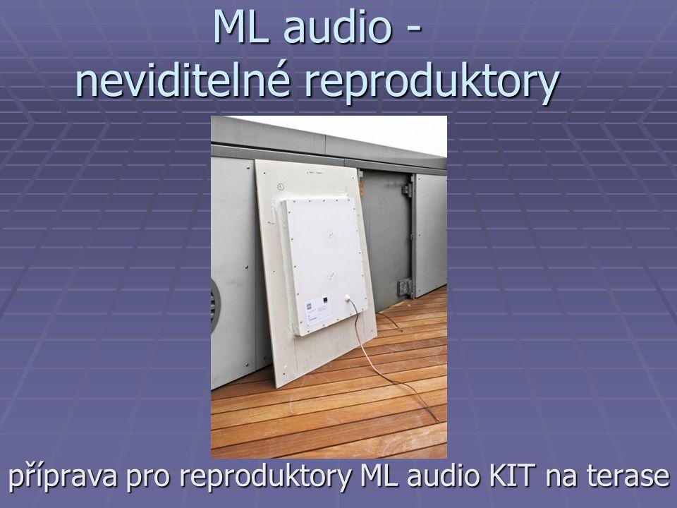 ML audio - neviditelné reproduktory příprava pro reproduktory ML audio KIT na terase