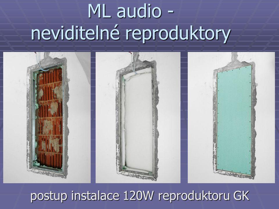 ML audio - neviditelné reproduktory postup instalace 120W reproduktoru GK