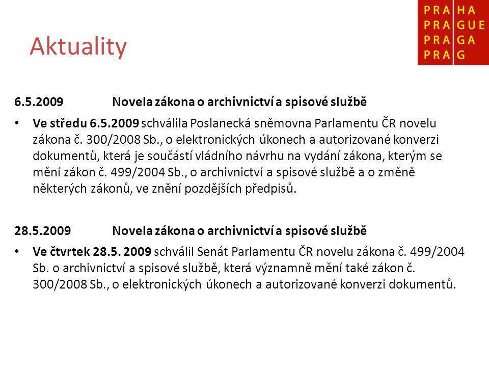 Novela zákona č.499/2004 Sb.