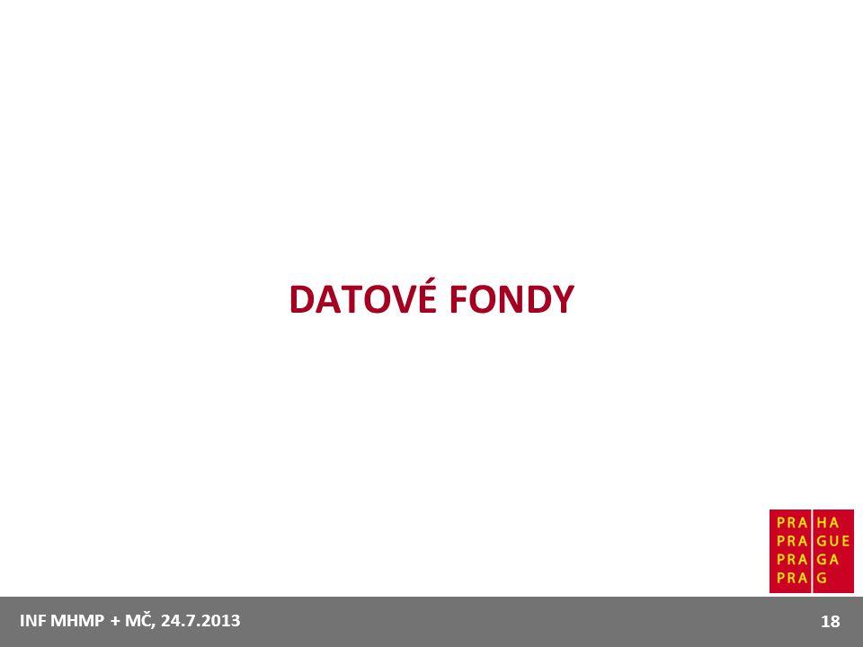 DATOVÉ FONDY 18 INF MHMP + MČ, 24.7.2013