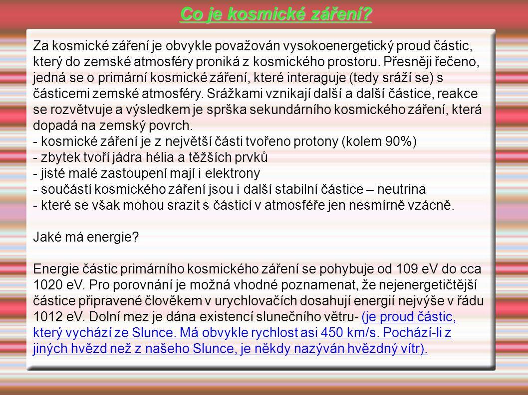 Co je kosmické záření.