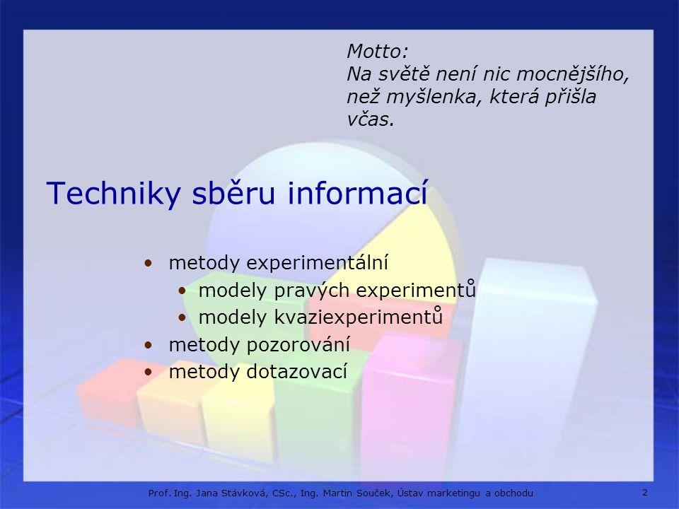 Experimentální metody jsou metody založené na studiu vztahů mezi dvěma nebo více proměnnými za kontrolovaných podmínek.