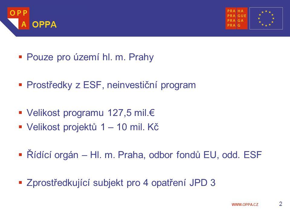 WWW.OPPA.CZ 2 OPPA  Pouze pro území hl. m.