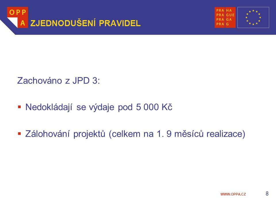 WWW.OPPA.CZ 9 ZÁLOHOVÁNÍ PROJEKTŮ Zkušenosti z JPD 3  85% příjemců z řad NNO (v soc.