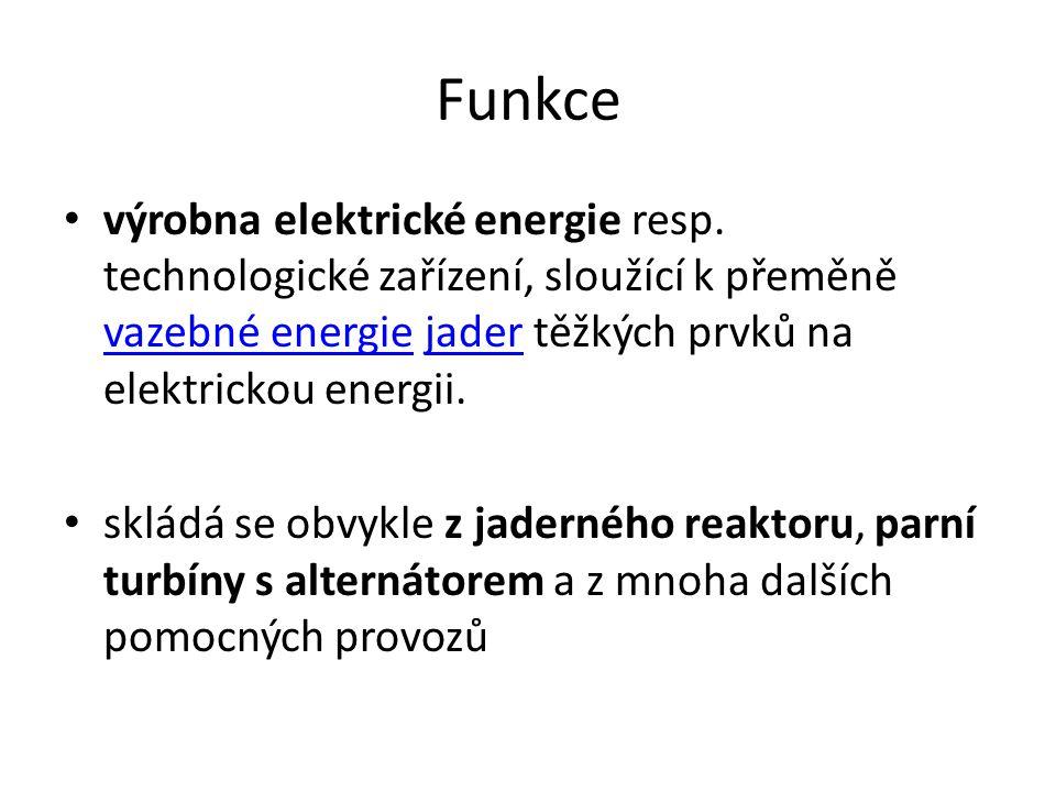 Funkce výrobna elektrické energie resp. technologické zařízení, sloužící k přeměně vazebné energie jader těžkých prvků na elektrickou energii. vazebné