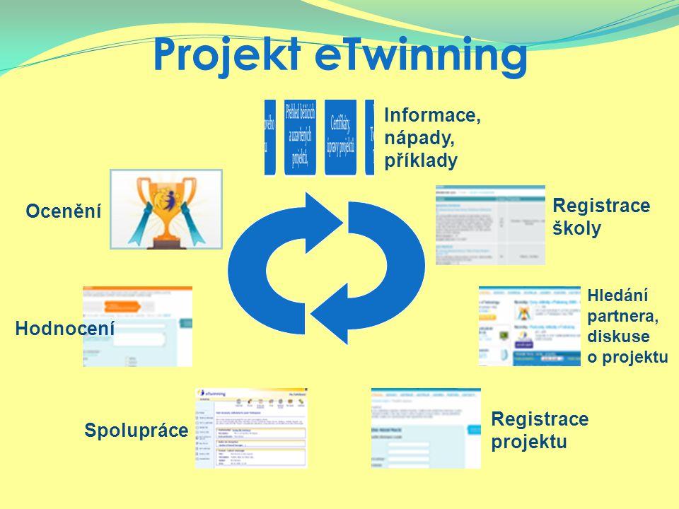 Projekt eTwinning Ocenění Informace, nápady, příklady Hledání partnera, diskuse o projektu Registrace školy Registrace projektu SpolupráceHodnocení