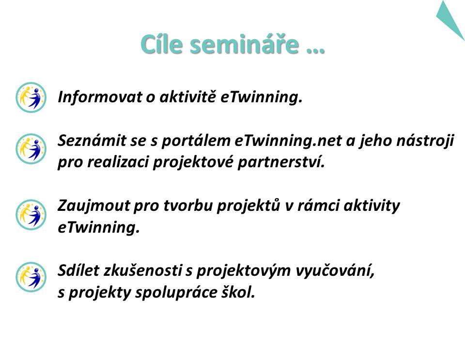 Cíle semináře … Informovat o aktivitě eTwinning.