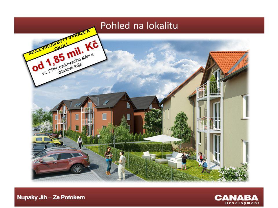 Nupaky Jih – Za Potokem Development Pohled na lokalitu