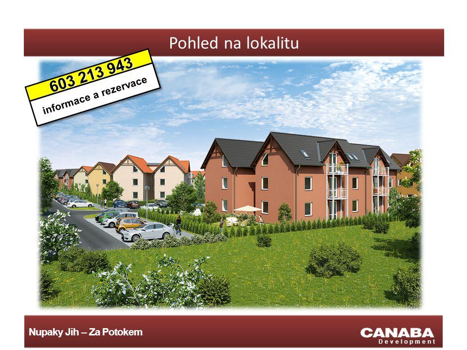 Nupaky Jih – Za Potokem Development Pohled na lokalitu informace a rezervace 603 213 943 603 213 943
