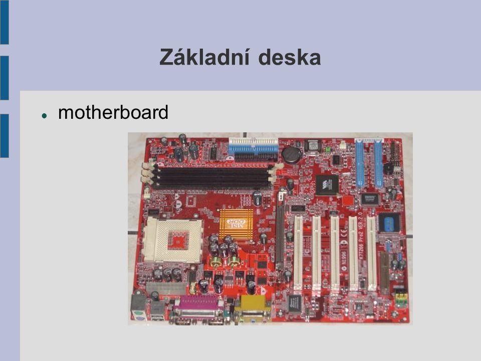 Základní deska motherboard