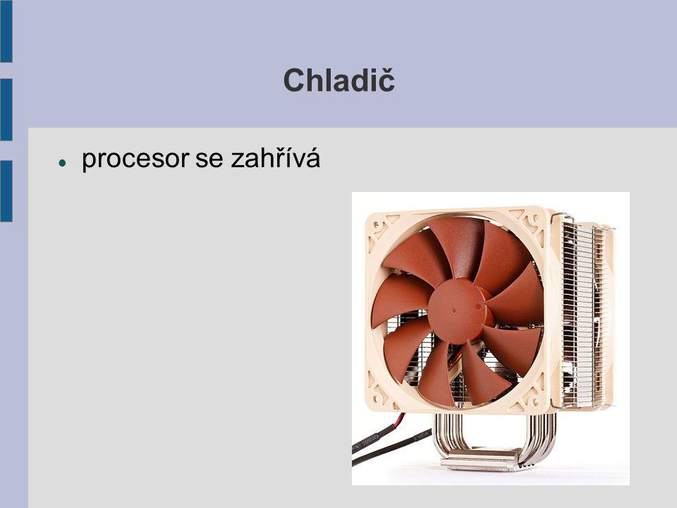 Chladič procesor se zahřívá