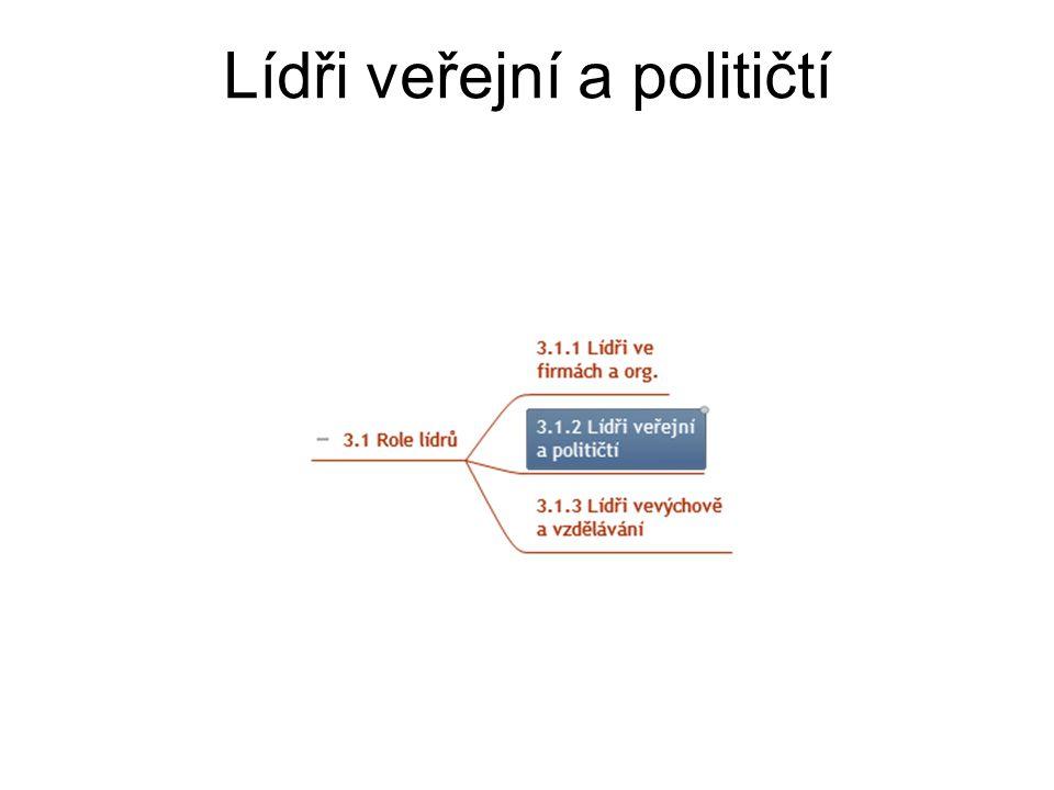 Lídři veřejní a političtí