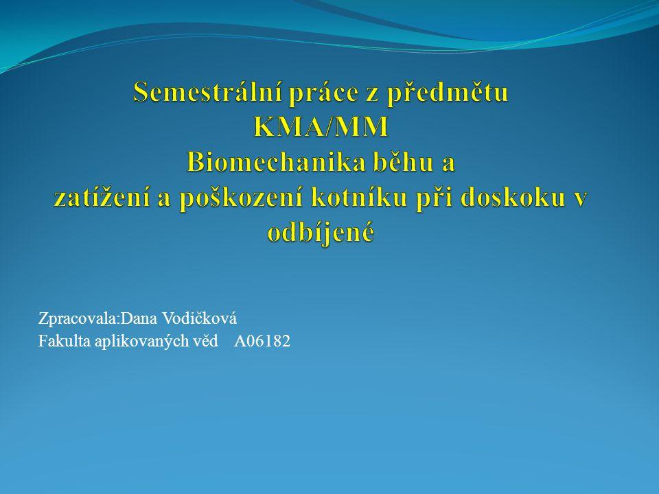 Zpracovala:Dana Vodičková Fakulta aplikovaných věd A06182
