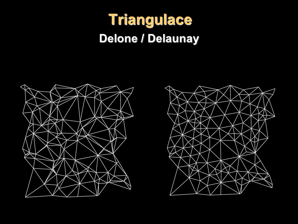 Triangulace Delone / Delaunay