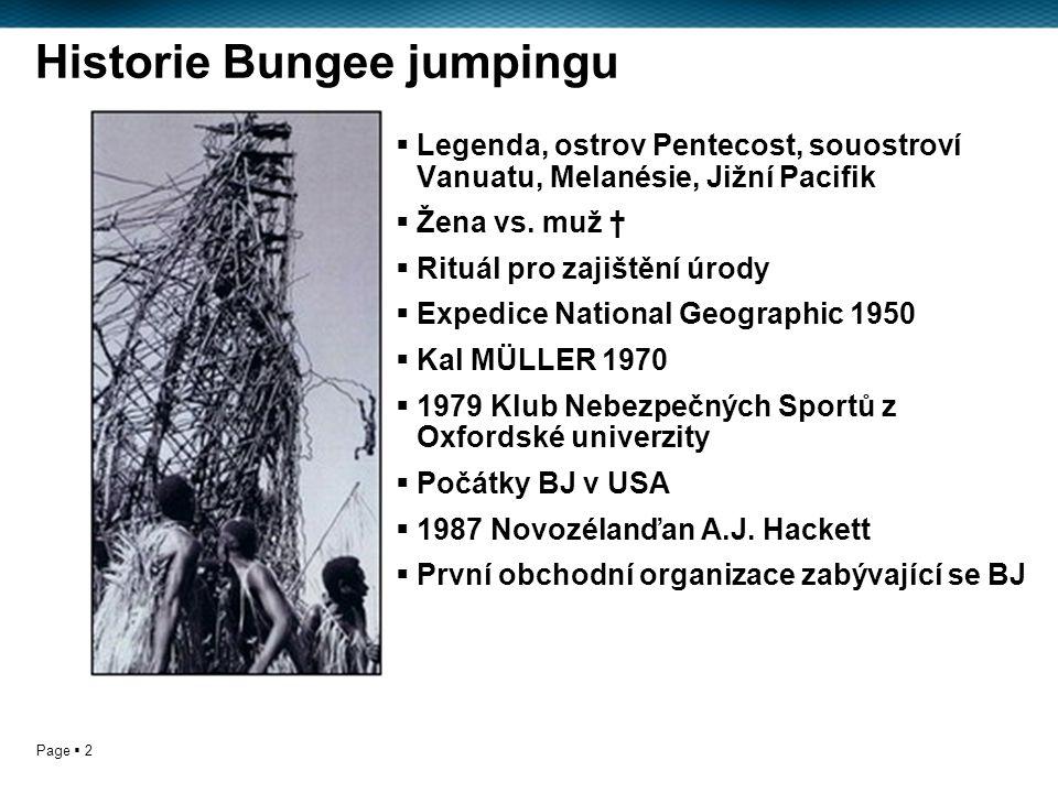 Page  2 Historie Bungee jumpingu  Legenda, ostrov Pentecost, souostroví Vanuatu, Melanésie, Jižní Pacifik  Žena vs.