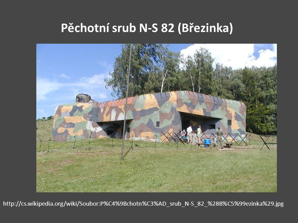 Pěchotní srub N-S 82 (Březinka) http://cs.wikipedia.org/wiki/Soubor:P%C4%9Bchotn%C3%AD_srub_N-S_82_%28B%C5%99ezinka%29.jpg