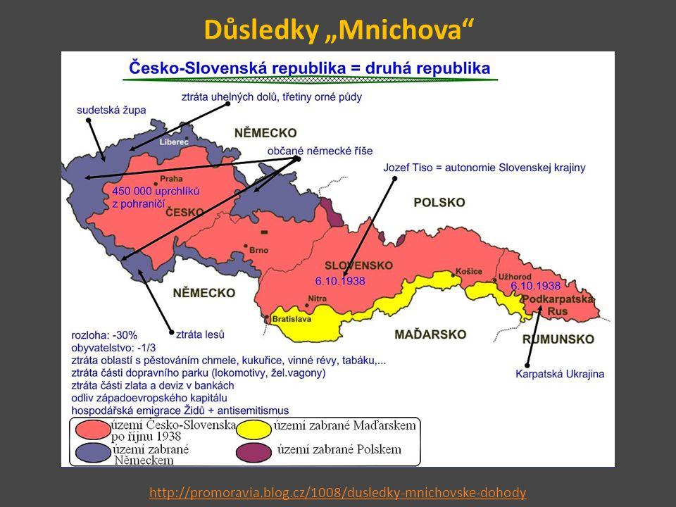 """Důsledky """"Mnichova"""" http://promoravia.blog.cz/1008/dusledky-mnichovske-dohody"""