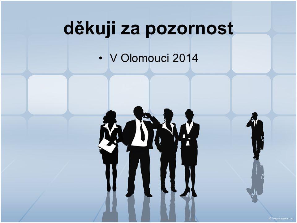 děkuji za pozornost V Olomouci 2014
