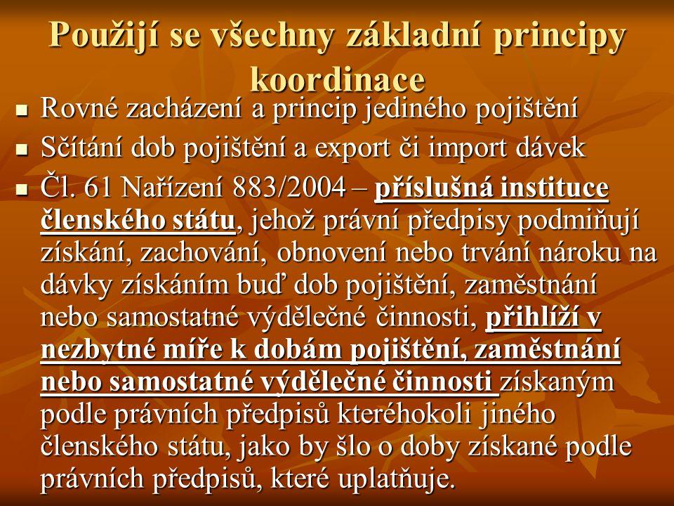 EXPORT DÁVEK Export dávek v nezaměstnanosti podle nař.