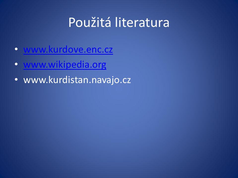 Použitá literatura www.kurdove.enc.cz www.wikipedia.org www.kurdistan.navajo.cz