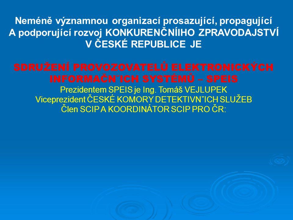 Neméně významnou organizací prosazující, propagující A podporující rozvoj KONKURENČNÍIHO ZPRAVODAJSTVÍ V ČESKÉ REPUBLICE JE SDRUŽENÍ PROVOZOVATELŮ ELE