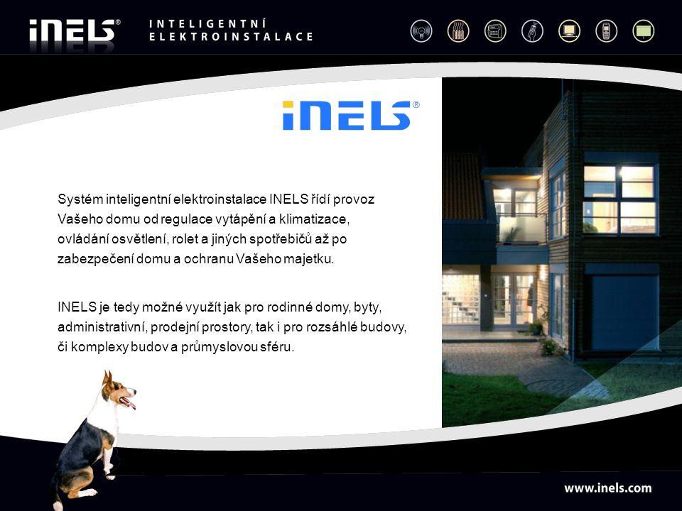 Systém inteligentní elektroinstalace INELS řídí provoz Vašeho domu od regulace vytápění a klimatizace, ovládání osvětlení, rolet a jiných spotřebičů a