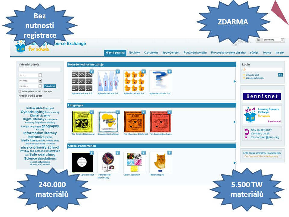 240.000 materiálů 5.500 TW materiálů Bez nutnosti registrace ZDARMA